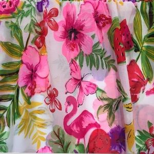 goa kids Swim - GIRLS SIZE 10 SWIM COVERUP PINK FLAMINGOS FLORAL